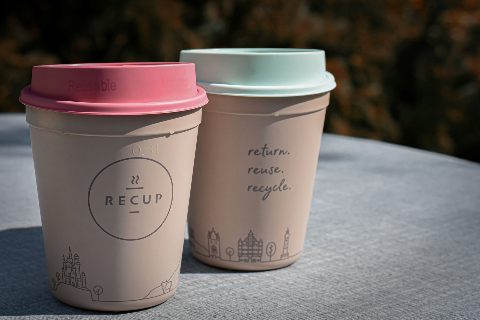 two to-go coffee cups